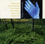 Cover for Curtis Macomber, Violin: Songs of Solitude